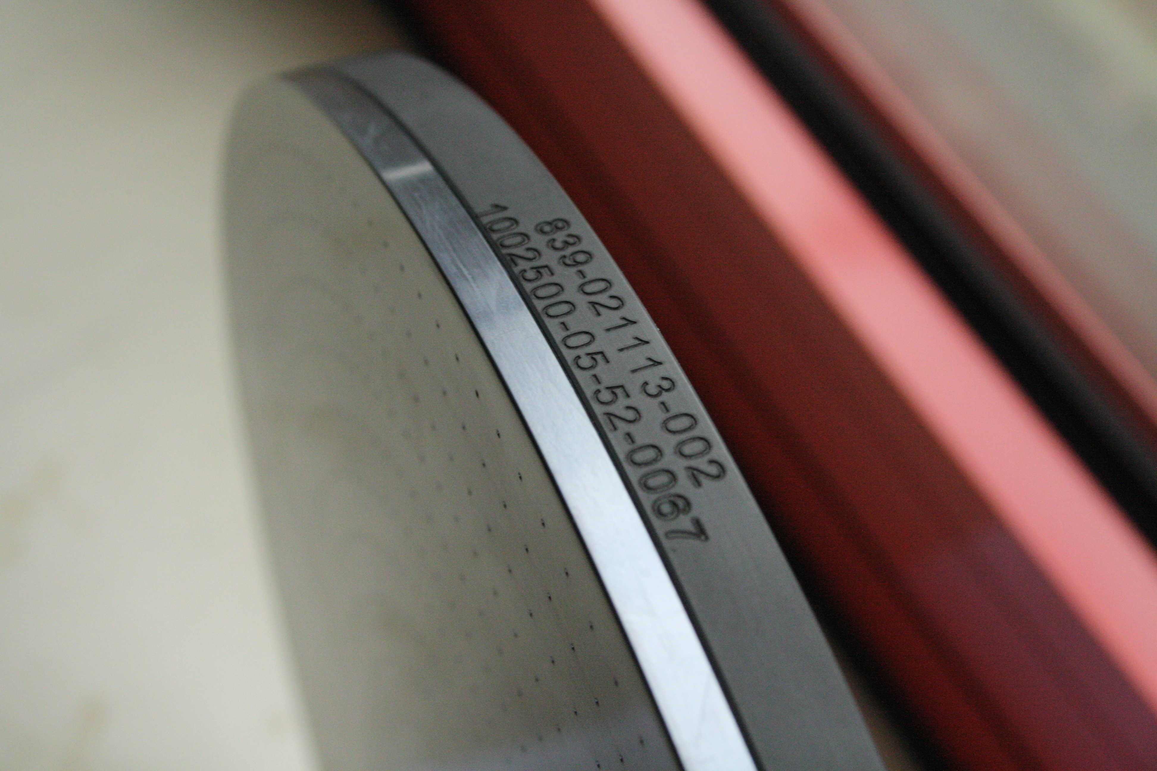 Laser marking on composite part